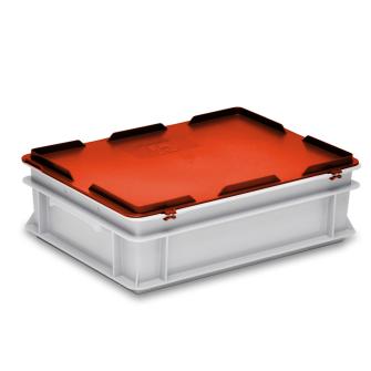 Scharnierdeckel rot zu Kiste RAKO 400 x 300 mm
