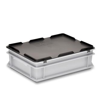 Scharnierdeckel grau zu Kiste RAKO 400 x 300 mm