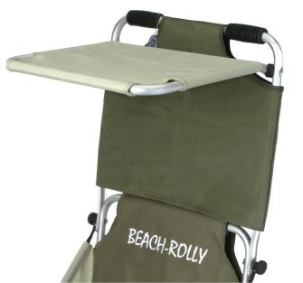 Beach-Rolly Sonnenschutzdach oliv-beige