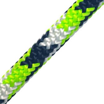 Baumkletterseil Tachyon 35m, 2 Slaice, weiss-grün-schwarz