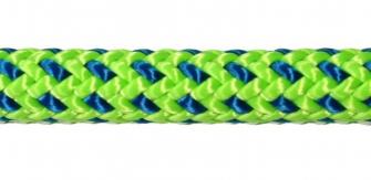 Baumkletterseil Tachyon 35m, 2 Slaice, grün-blau