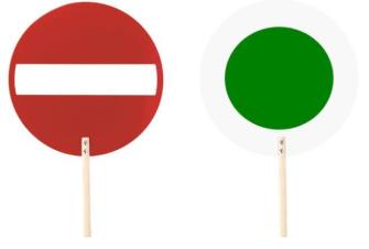 Drehkelle Signaltafel rot grün R1 einzeln mit Stiel