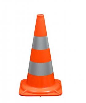 Leitkegel 50cm R1 orange mit 2 reflektierenden Streifen