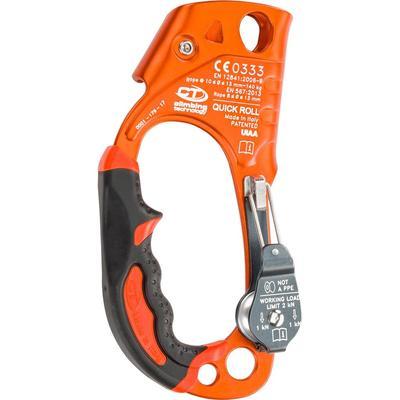 Handsteigklemme Quick Roll mit Rolle rechts orange