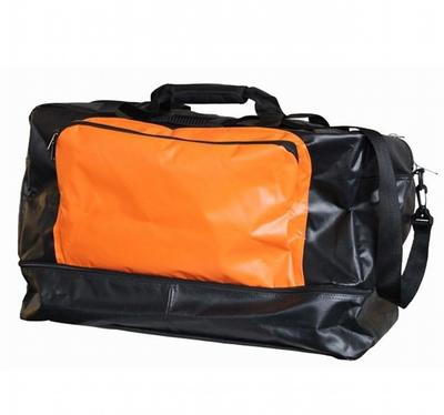 Materialtasche schwarz-orange