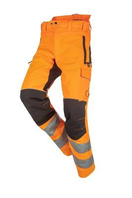 Schnittschutzhose SAMOURAI HV, orange/schwarz, Regular, Gr. L