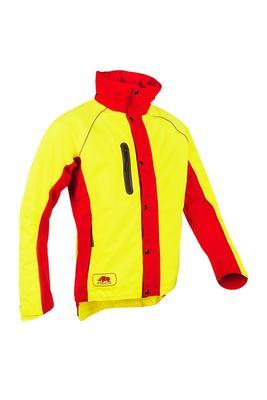 Regenjacke Keiu, gelb-rot, Gr. XS