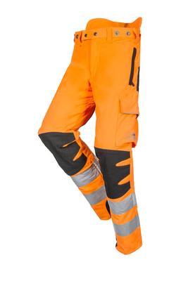Schnittschutzhose HV, orange/schwarz, Regular, Gr. M