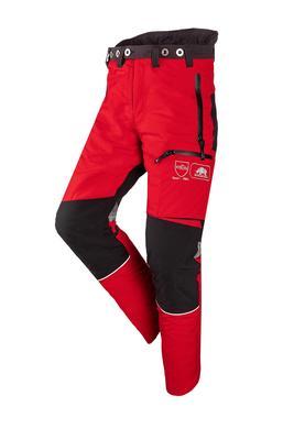 Schnittschutzhose Innovation, rot/grau, Gr. M