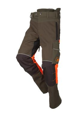 Schnittschutzhose Samourai, kakigrün/orange, Regular, Gr. M