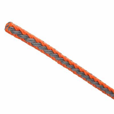 Arbeitsseil T-Rex 9.5mm 3/8 orange-grau 26kN Meterware