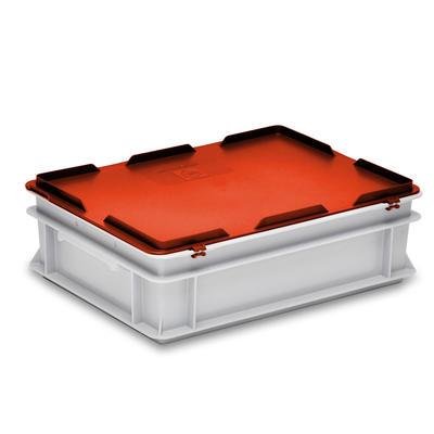 Scharnierdeckel rot zu Kiste RAKO