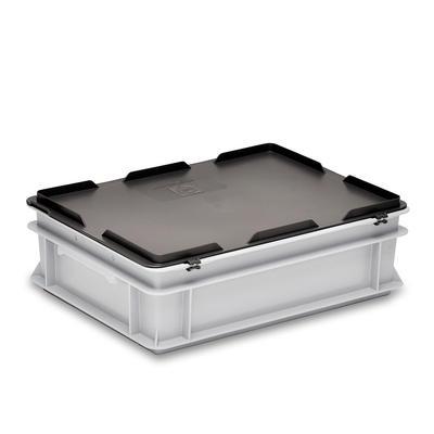 Scharnierdeckel grau zu Kiste RAKO