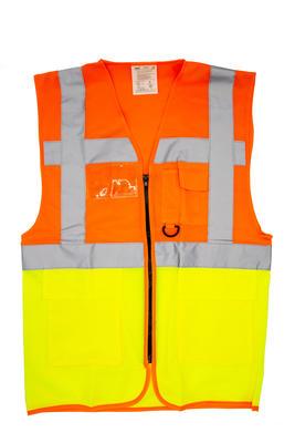 Warnweste orange-gelb Gr. M, EN 20471/2